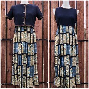 Karin stevens Petite 2 piece Modest dress Sz 6P